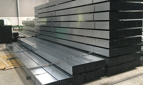 steel pipe stacking and package